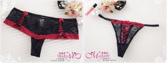 [瑪嘉妮Majani]日系中大尺碼- 歐美專櫃 中腰丁字褲 加大尺碼 現貨 特價99元 pt-256