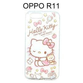 HelloKitty空壓氣墊軟殼[眨眼]OPPOR11(5.5吋)【三麗鷗正版】