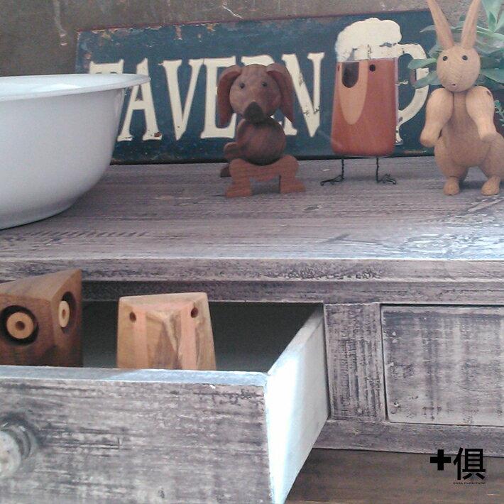 【+俱】兩抽小木櫃