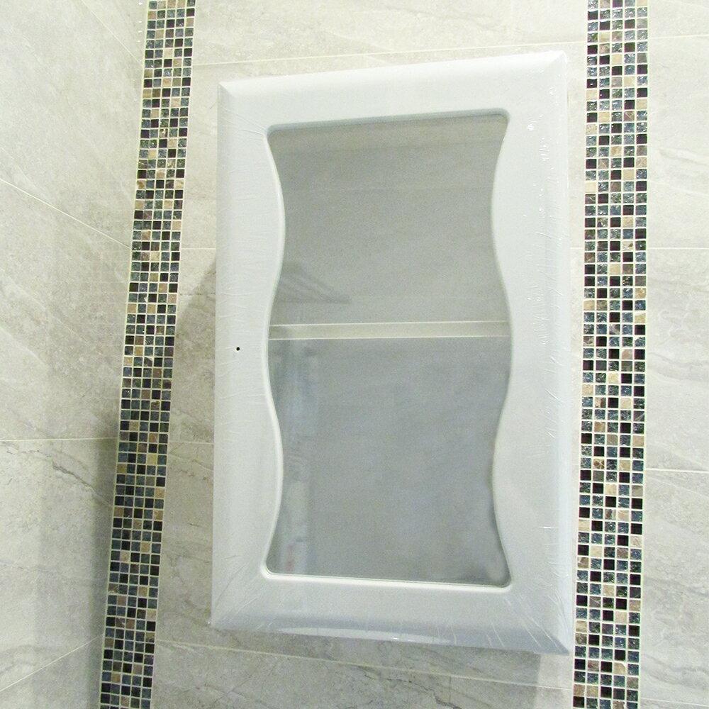 浴室置物架 浴櫃 收納櫃【GAN007】波浪單門防水塑鋼浴櫃-40cm Amos 1