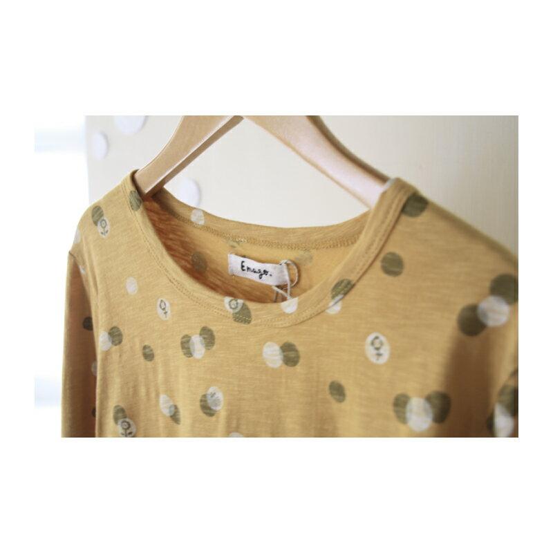 【日本品牌 | Emago】點點花朵圖案 純棉長袖上衣 (全六色) 1