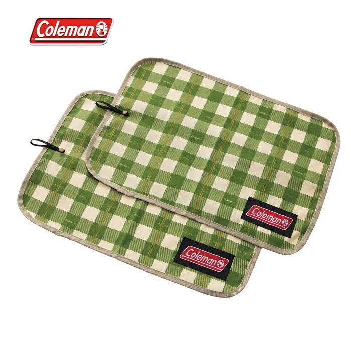 【露營趣】中和安坑 Coleman CM-26881 午餐墊/綠格紋 餐桌布 桌墊 野餐墊