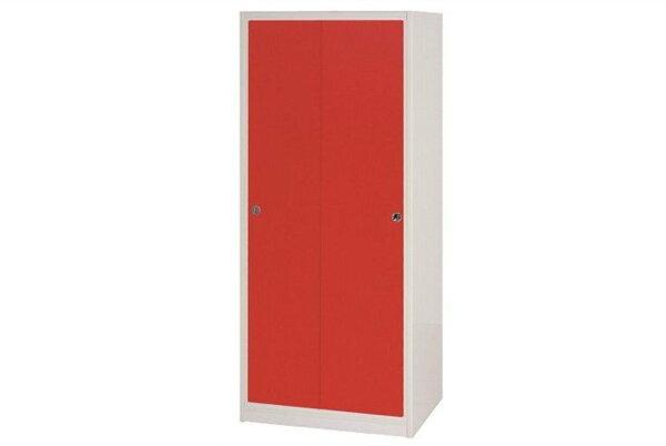 【石川家居】832-01(紅白色)拉門衣櫥(CT-114)#訂製預購款式#環保塑鋼P無毒防霉易清潔