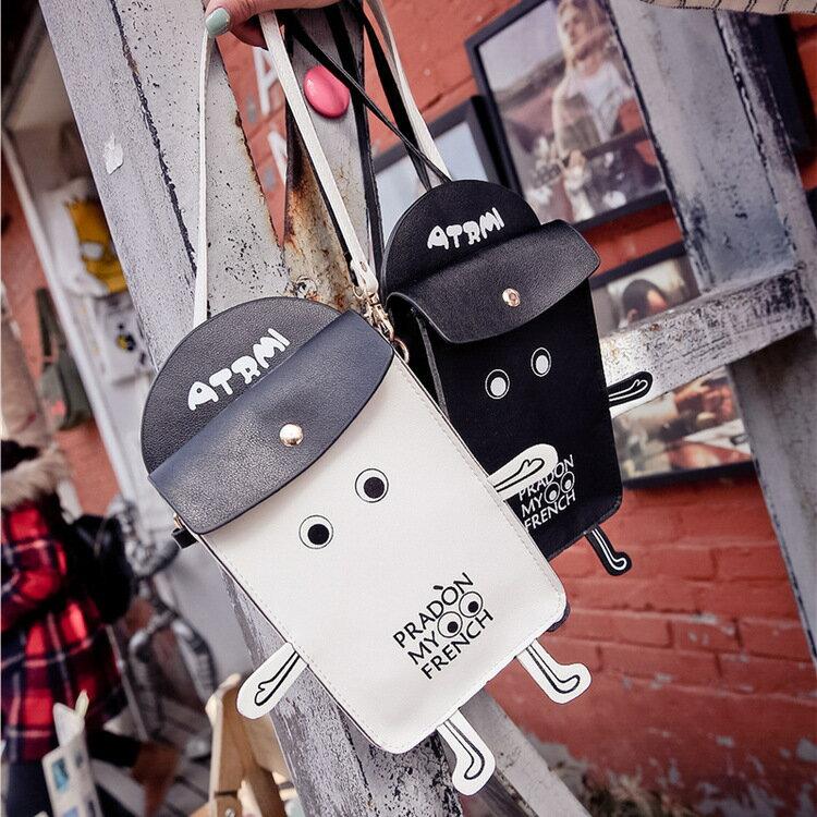 韓版時尚【機器人手機包】 非短夾/非中夾皮夾 -時尚玩包