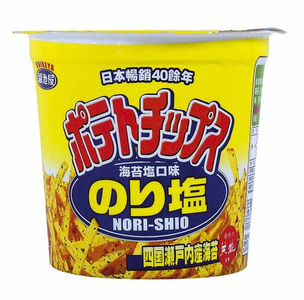 湖池屋海苔鹽洋芋條/杯 64g【合迷雅好物商城】