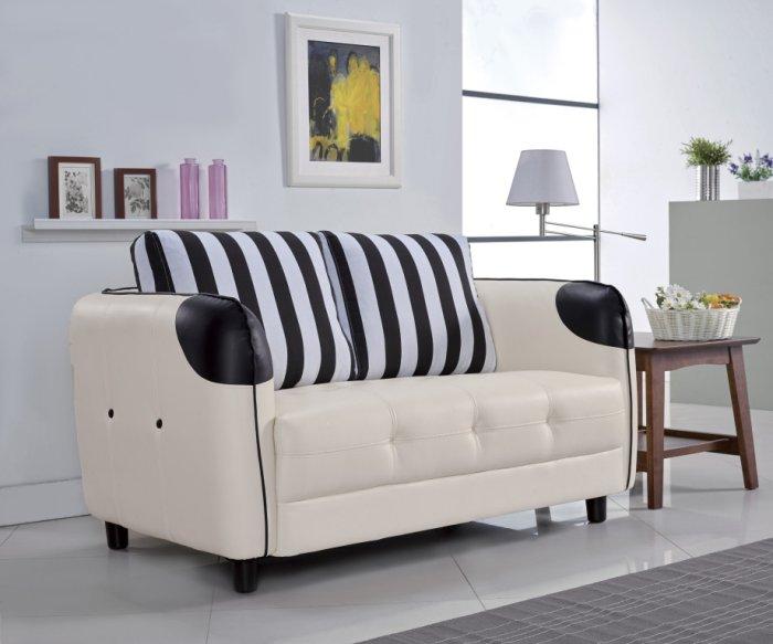 【尚品家具】 JF-161-1 柏麗米白雙人沙發