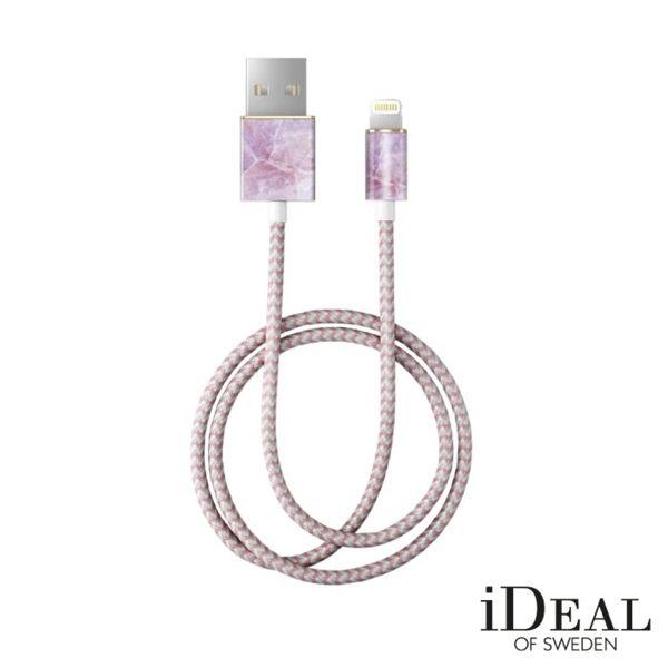 【愛瘋潮】99免運iDealOfSweden瑞典大理石紋編織Lightning充電線傳輸線數據線預購