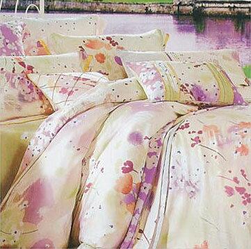 【名流寢飾家居館】綻放異彩.100%天絲.標準雙人床罩組全套