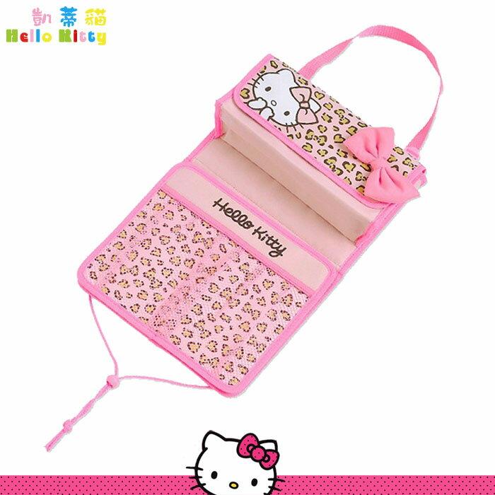 凱蒂貓 Hello Kitty 汽車用 椅背掛式 面紙套 置物袋 收納袋 日本進口正版 864544