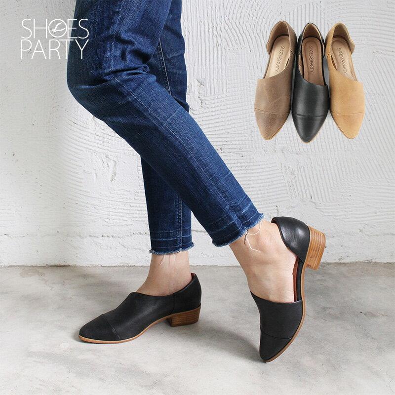 【P2-17825L】外側簍空真皮踝靴_Shoes Party 0
