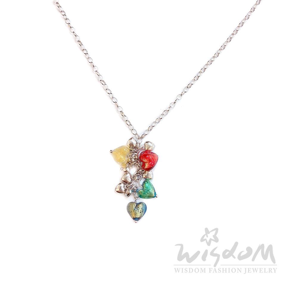 威世登時尚珠寶 繽紛琉璃銀小套鍊 109GSN03653-CCHX