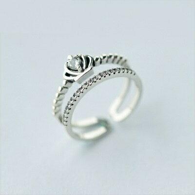 925純銀戒指鑲鑽開口戒~炫彩亮麗細緻 生日情人節 女飾品73dt452~ ~~米蘭 ~