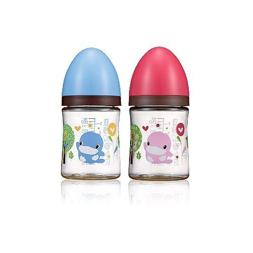 ★衛立兒生活館★KUKU酷咕鴨 歐風經典PES奶瓶寬口口徑-160ml(顏色隨機出貨)