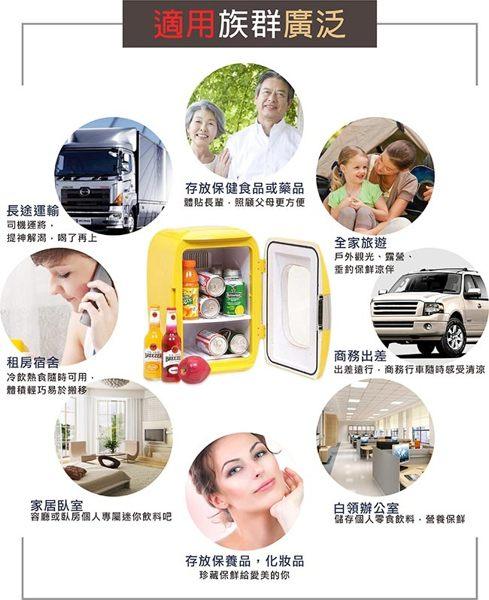 免運費贈保冷劑《 KRIA可利亞》 電子行動冷熱冰箱 / 行動冰箱 / 小冰箱 / 化妝品冷藏箱 CLT-16(黃) 3