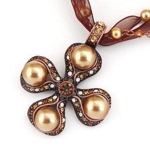 special原創飾品歐美複古項鏈女短款 威尼斯情懷 g合成珍珠y配飾