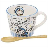 小叮噹週邊商品推薦大賀屋 日貨 哆啦A夢 竹蜻蜓 陶瓷 馬克杯 湯匙 湯杯 小叮噹 餐具  Doraemon 正版授權 J00012155