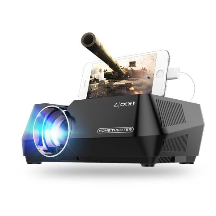 迷你投影儀 T1S手機投影儀 家用高清微型投影機3D便攜家庭影院無屏電視