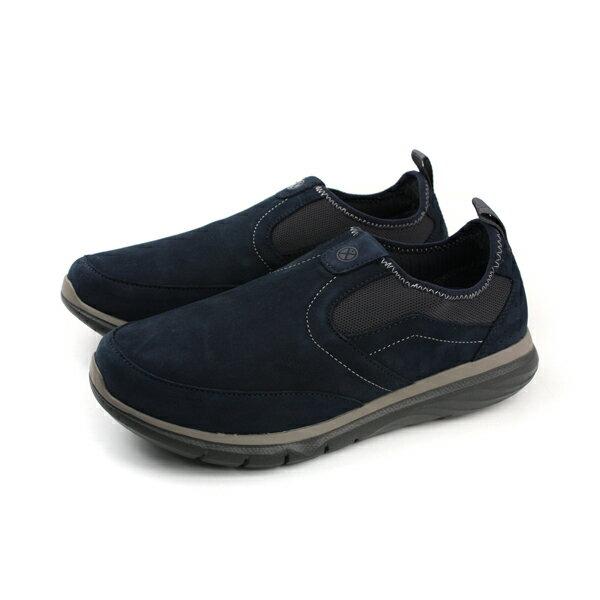 HUMAN PEACE:HushPuppies懶人鞋休閒鞋舒適寬楦深藍色男鞋6173M178923no070