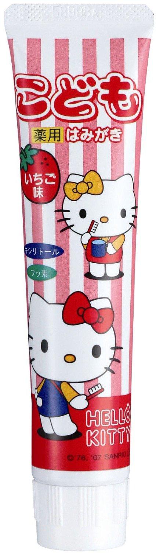 【貝印】Hello Kitty凱蒂貓兒童牙膏 - 草莓50g