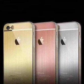蘋果iPhone5/5S/SE軟殼 仿原金屬拉絲TPU殼 蘋果5se 矽膠手機保護殼【預購】