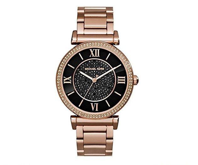 【MICHAEL KORS】正品 羅馬錶盤鑲鑽手錶 黑色水晶鑽女錶 腕錶 MK3356【全店滿4500領券最高現折588】 0