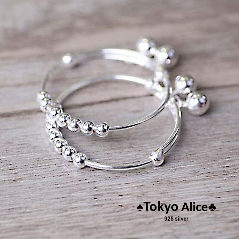 Tokyo Alice 925純銀鈴噹球球寶寶手鐲(一對),滿月禮彌月禮成長禮物寶貝手鍊飾品首飾銀飾甜美鎖骨鏈(sh0000034)