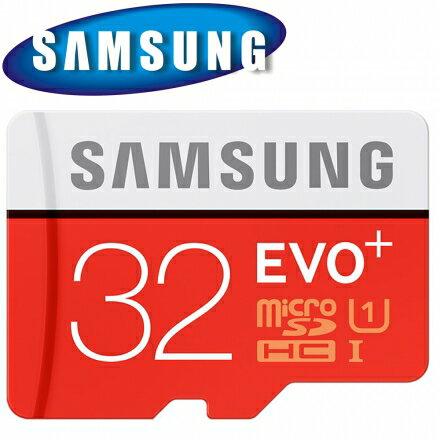 SAMSUNG 三星 32GB 80MB/s EVO+ microSDHC TF U1 C10 記憶卡