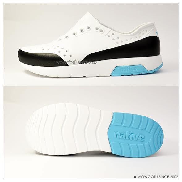 NATIVE  SHOES - LENNOX BLOCK-新款雷諾混色系列SHELL WHITE / SURFER BLUE / JIFFY BLOCK 3