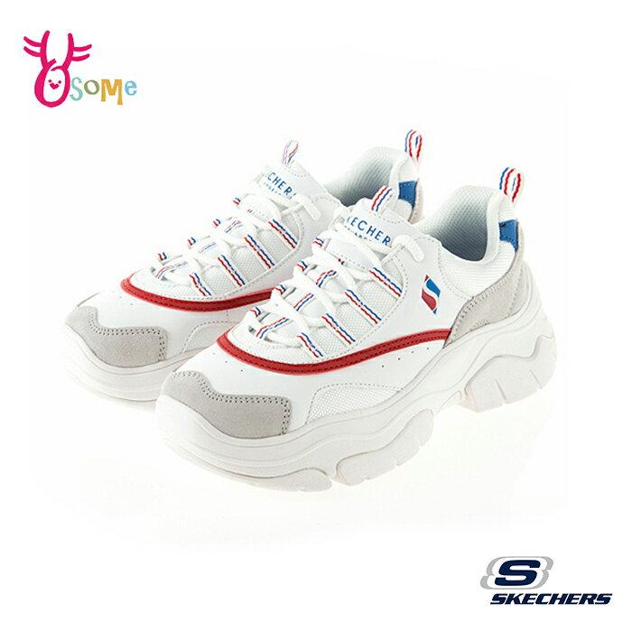 Skechers女鞋 老爹鞋 白增高鞋 記憶鞋墊 柔軟 運動鞋 休閒鞋 小白鞋 老爹鞋 T8278#白色