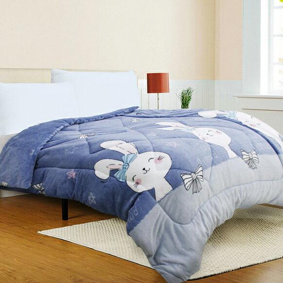 【微笑咪兔】特級法蘭絨雙面暖暖被