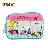 史努比Snoopy商品推薦,史努比包包/後背包推薦到【日本正版】史努比 帆布 零錢包 卡片包 Snoopy PEANUTS - 294463