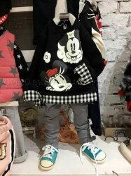 ☆╮寶貝丹童裝╭☆正韓國製 可愛 米奇 米妮 卡通 圖案 假兩件 BB棉T 男女童 經典款 上衣 ☆