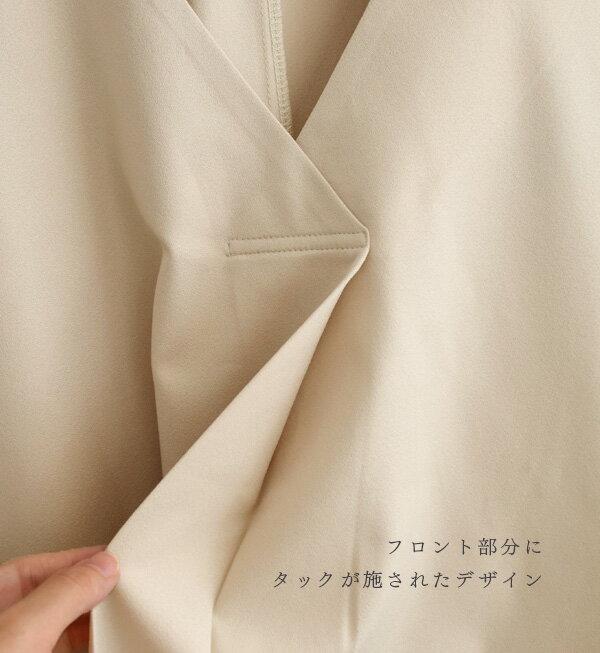日本e-zakka / 簡約素色寬版V領上衣 / 32190-1900051 / 日本必買 代購 / 日本樂天直送(2900) 7