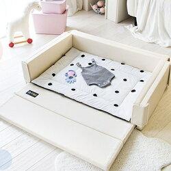 韓國 DreamB 多功能圍欄地墊式嬰兒床-晨星,全球首創隔音防震【紫貝殼】
