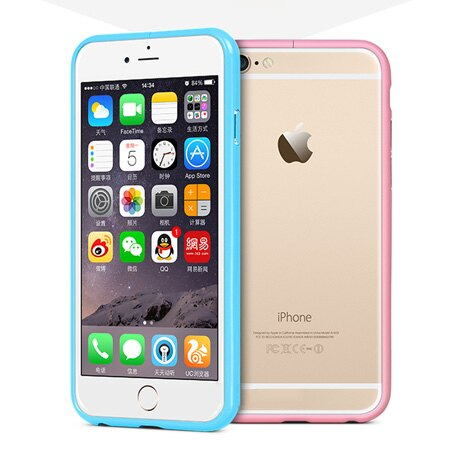 iPhone 6 6s Plus 馬卡龍色亮面超薄金屬邊框 硬殼 烤漆 手機殼 蘋果6【N201251】
