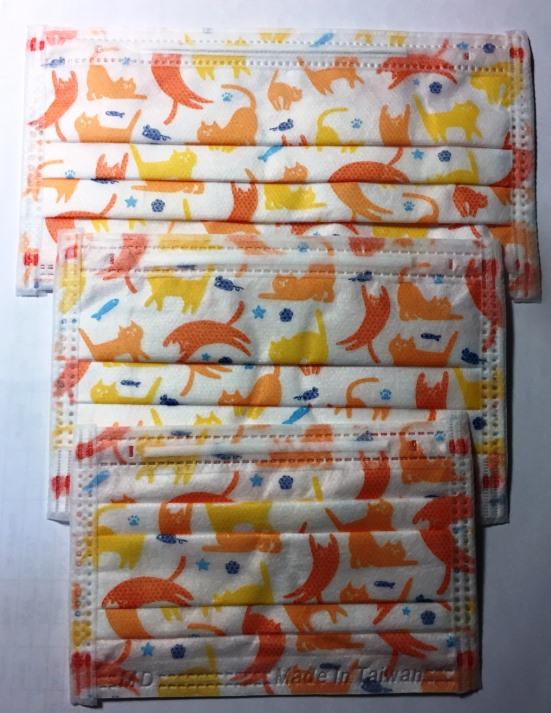 4盒特惠組!!~【CAiRE艾可兒】快樂貓系列醫用口罩(成人/婦幼/幼幼平面&成人/婦幼立體耳繩)-4盒200入