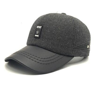 ~棒球帽保暖毛呢帽~ 百搭 男護耳帽3色73pi16~ ~~米蘭 ~