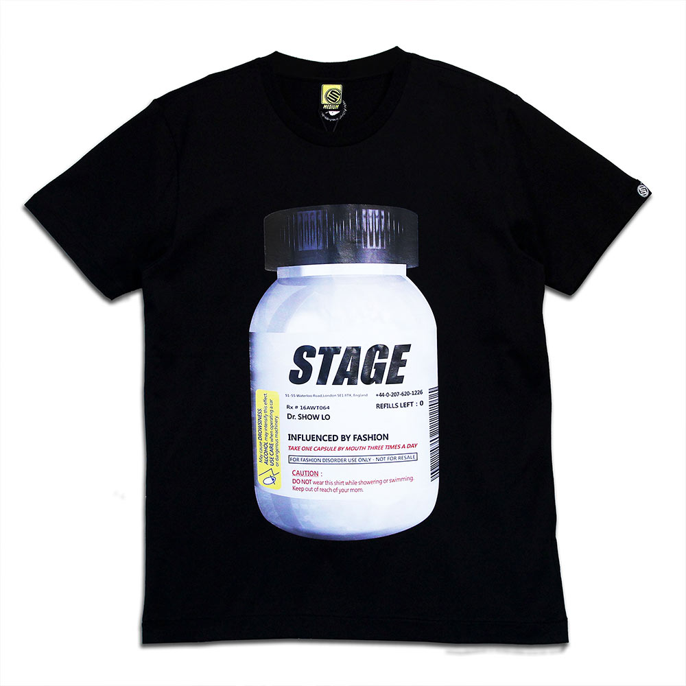 STAGE PILL BOTTLE TEE 黑色 2