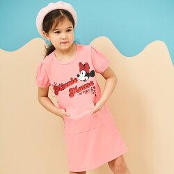 Disney 米妮系列夏日花園口袋洋裝-粉紅
