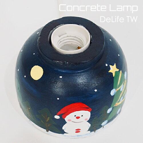 DeLife 聖誕氣氛水泥燈座- 附LED愛迪生燈泡 5