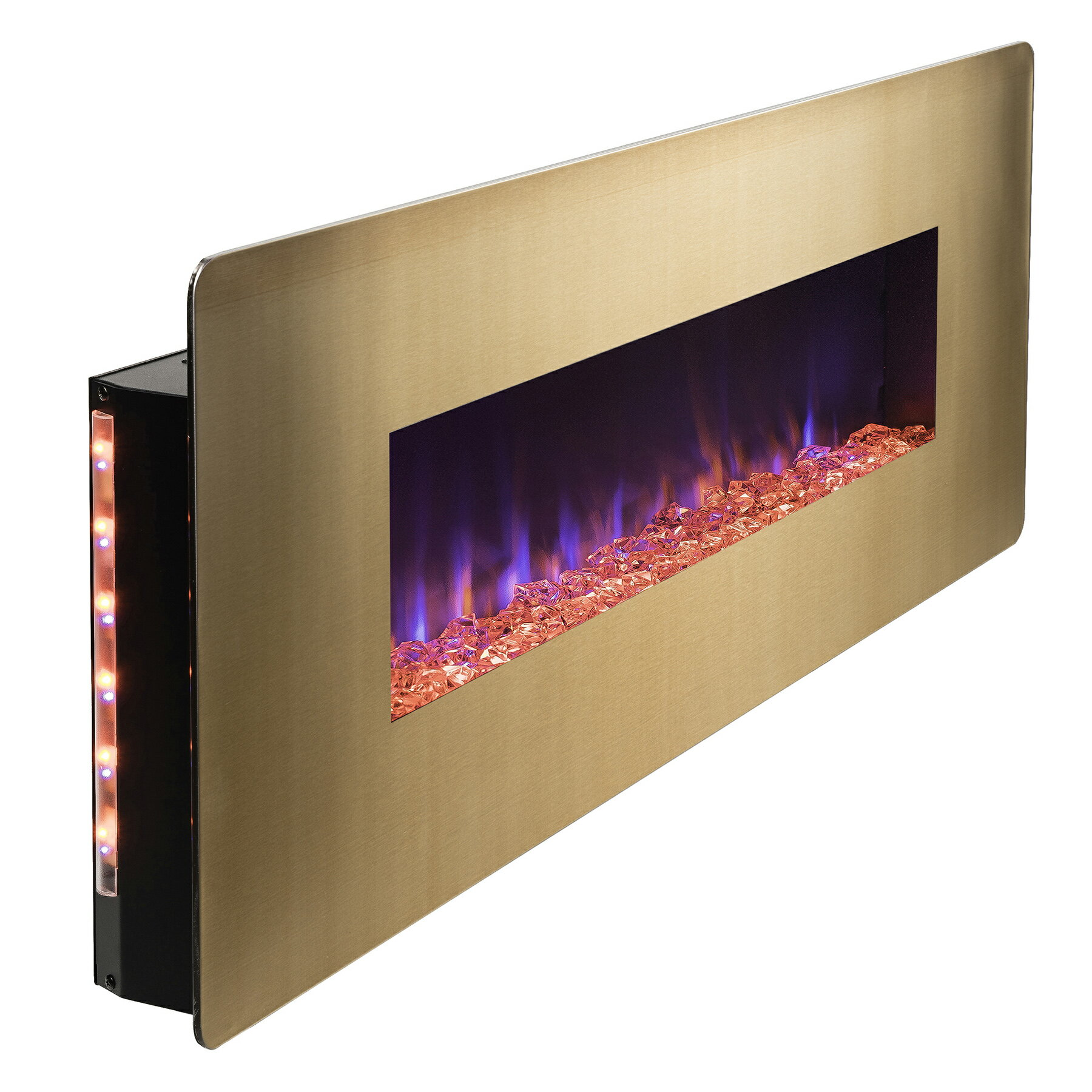 "AKDY 48"" Wall Mount Freestanding Changeable Electric Fireplace w/ Remote 4"