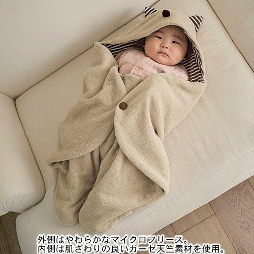 日單千趣會.小魔怪新生兒外出抱毯.抱被.新生兒包巾 簡易懶人包巾
