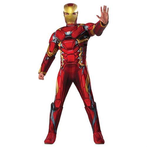 Mens Deluxe Iron Man Civil War Costume size XL 0