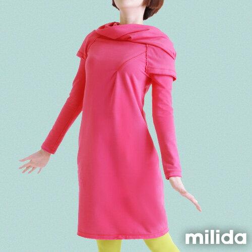 【Milida,全店七折免運】-秋冬單品-洋裝款-歐風造型設計 2