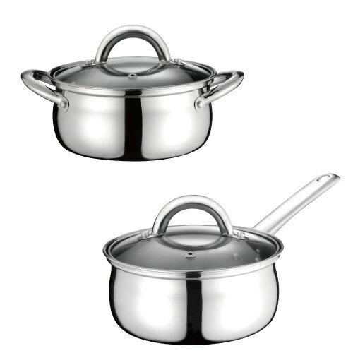 鍋寶不鏽鋼雙鍋組 單柄 x1 雙耳 x1 超快速 1.4L 16cm SS-0016G /SS-0016  **免運費**