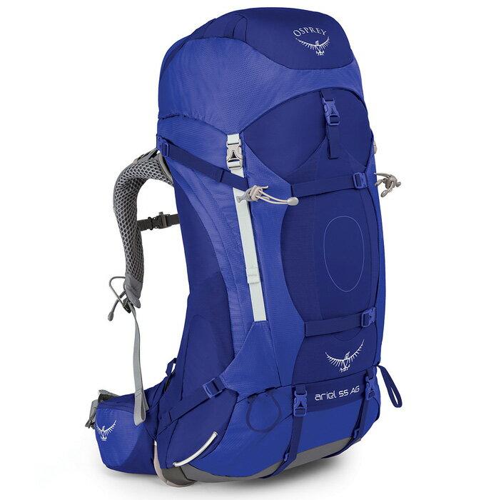 【鄉野情戶外用品店】 Osprey |美國| ARIEL AG 55 登山背包《女款》/重裝背包 自助旅行/ArielAG55 【容量52L】