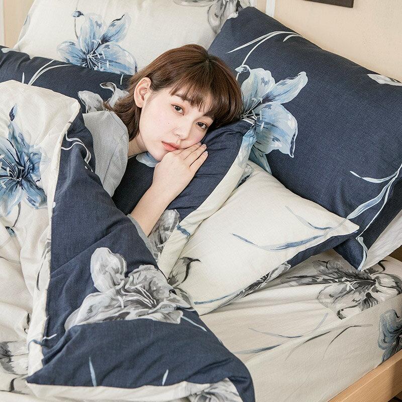 床包兩用被套組  /  雙人-100%精梳棉【漫漫花徑】含兩件枕套,花語系列,戀家小舖,台灣製 0