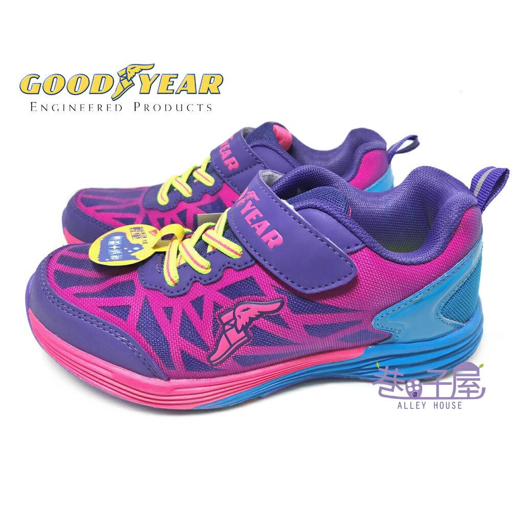 【巷子屋】GOODYEAR固特異 女童輕量機能運動慢跑鞋 [68407] 紫桃 超值價$498