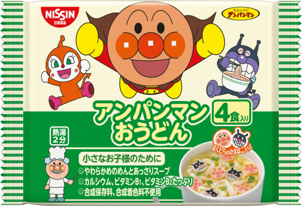Nissin日清麵包超人馬克杯麵4入-烏龍麵 88g★1月限定全店699免運