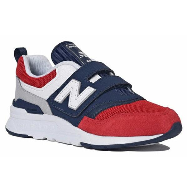 Shoestw【PZ997HEA】NEW BALANCE NB997 中童鞋 運動鞋 黏帶 免綁帶 Wide 網布 紅藍白 法國配色 2